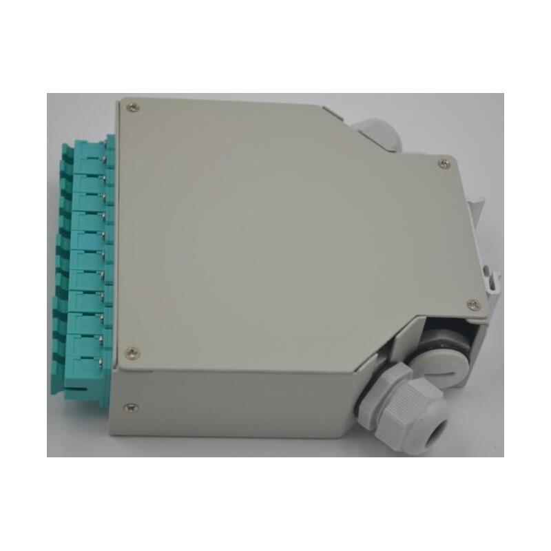 Din Rail Fiber Optic Termination Box 12 Ports Sc Simplex